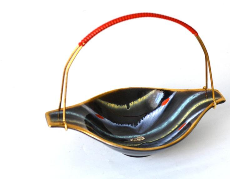 SALE Vintage West German pottery Jasba fruit bowl by MightyVintage, €25.00