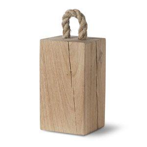 Cale-porte rectangulaire en ch�ne avec anse en corde