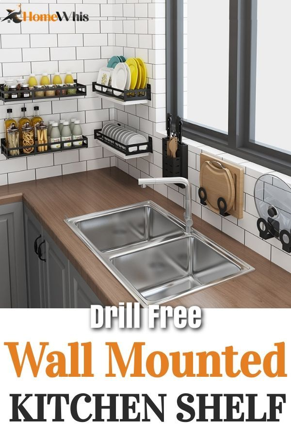 Wall Mounted Kitchen Organizing Shelf Declutter Keep Your Kitchen Organized In 2020 Diy Kitchen Storage Kitchen Furniture Design Kitchen Shelves Organization