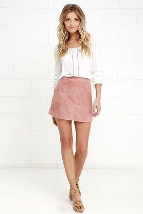 Shenandoah Mauve Suede Mini Skirt at Lulus.com!