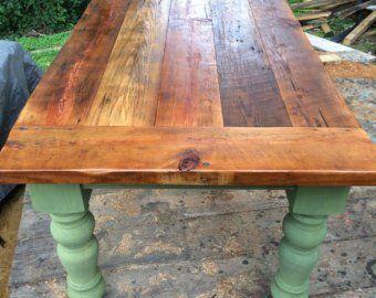 3168fa8d09eee 8 Foot Heart Pine Farmhouse Table