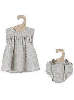 KIABI - Robe + culotte en coton effet lin