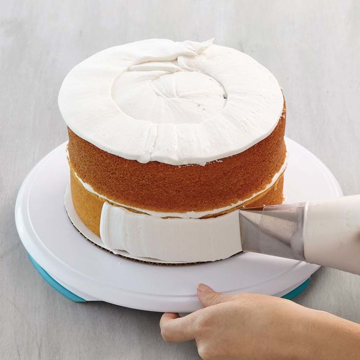 How to Ice a Cake with Tip #789  – Cake decorating