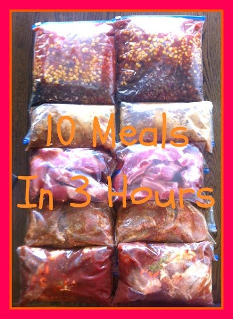 Freezer crock pot meals - mediterranean pork chops, beef pot roast, chipotle lime chicken, BBQ pork sandwiches, chicken taco soup