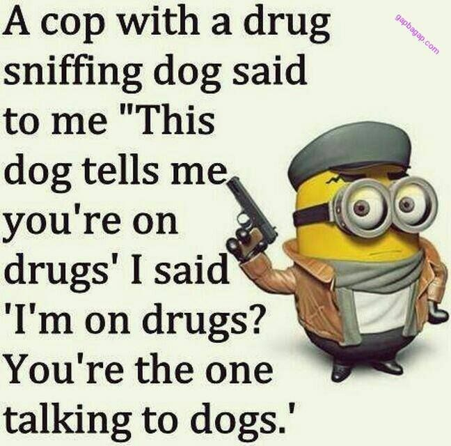 #Funny #Minions Jokes About Police vs Drugs