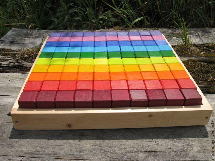 Купить большой конструктор деревянный развивающий кубики - кубики, кубики деревянные, кубики разноцветные, Конструктор
