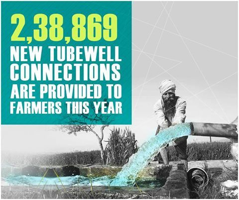 SAD-BJP alliance Govt is sincerely working for the welfare and prosperity of farmers. In last 9 years, 2,38,869 tubewell connections have been given to farmers. Punjab government is also paying ₹14.82 crore as premium for farmers' health insurance. #PunjabwithFarmers  #9YearsofProgres #AkaliDal