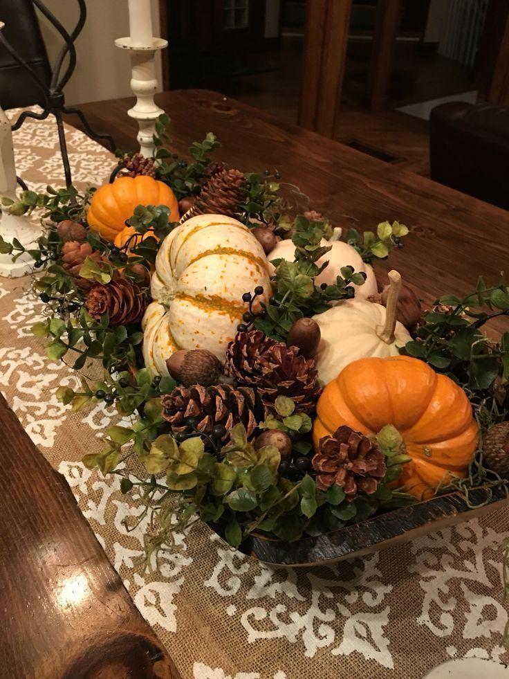 unglaublich Herbstmittelstück – Holzschale ernten