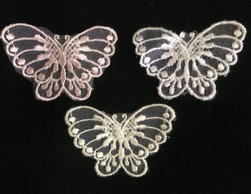 detailed small open winged butterfly 15x2 inches amore lace and fabricshttp butterfly kissesmenu cardsplace