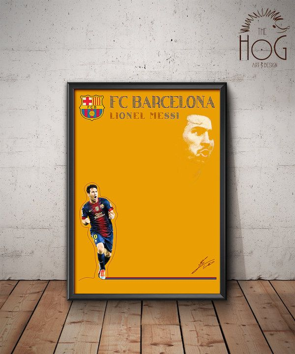 Lionel Messi Retro Poster - Argentina - Barcelona - Football Today Series by HogArtDesign on Etsy