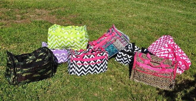 Personalized Duffel Bags – Great size @Shannan Ovard this looks like the bags you were looking for....