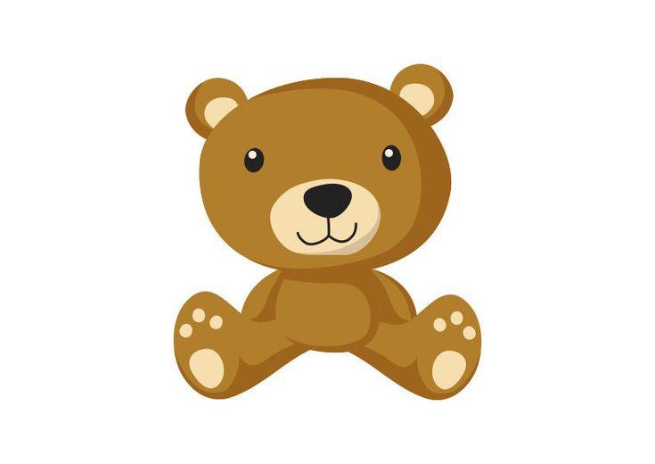 Teddy Bear Flat Vector