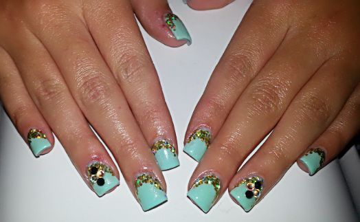 Diana's Little Angel's of Beauty: Gel Nails Light Turquoise