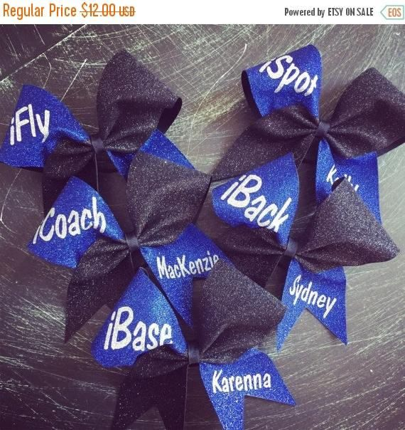 Stunt group cheer bows. ifly ibase iback cheer bow. Cheerleading accessories. Cheer coach. Gifts for squad. Stunt goals! #ad