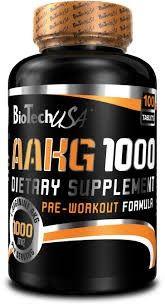 Biotech AAKG 100 tabs en un complejo pre-entreno basado en el poder de la Arginina Alfa Ceto Glutarato, que es un precursor de oxido de nitrógeno. Con  AAKG de Biotech aumentará tu energía y tu resistencia, consiguendo aumentar el tamaño de la masa muscular.