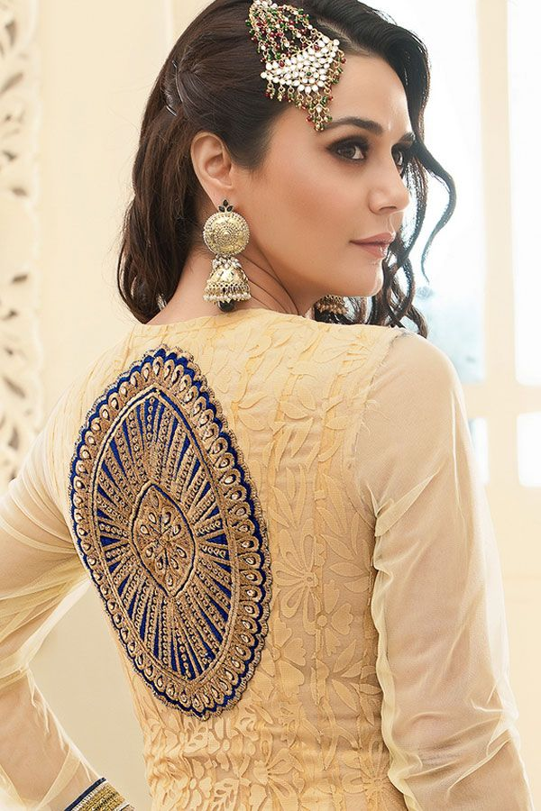 Indian Bollywood Style Amazing Preity Zinta Golden Anarkali Suit at Flat 20% oFF SALE. For more queries Call or Whatsapp Us : - +918968017642,+917837798330