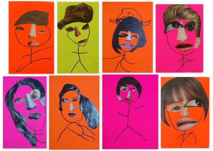 les petites têtes de l'art: Deux yeux, un nez, une bouche...tout y est..