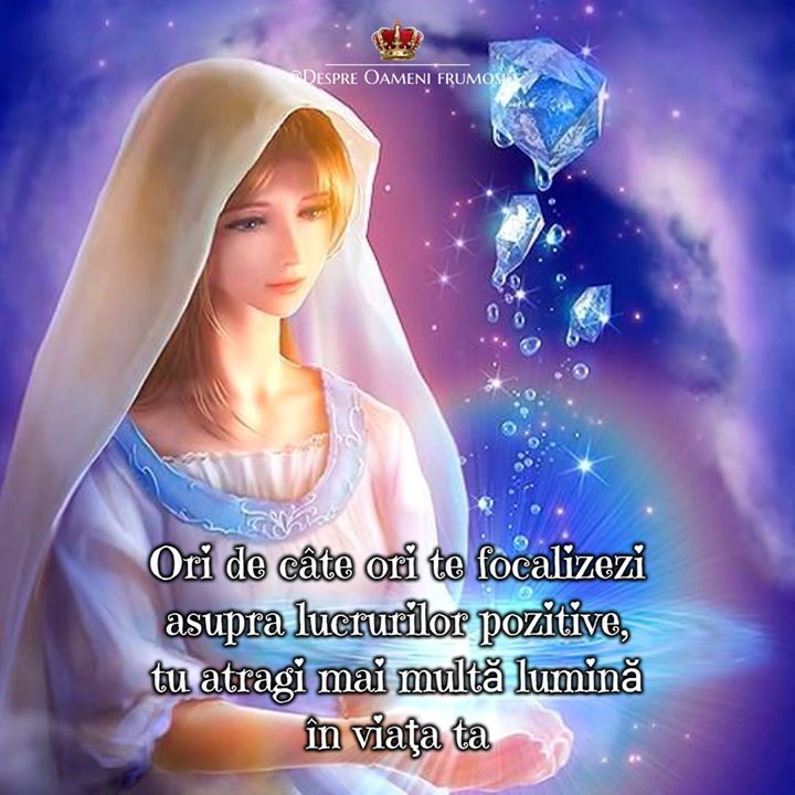 Tu poţi schimba calea pe care mergi.   Altfel spus poţi transforma întunericul în lumină sau lucrurile negative în lucruri pozitive.  Ori de câte ori te focalizezi asupra lucrurilor pozitive tu atragi mai multă lumină în viaţa ta iar lumina elimină în mod natural întunericul.   Recunoştinţa iubirea gândurile cuvintele şi acţiunile bune  atrag lumina şi risipesc întunericul.  Umple-ţi viaţa cu lumină! __________ The most beautiful posts / Cele mai frumoase postări   Despre Oameni frumosi…