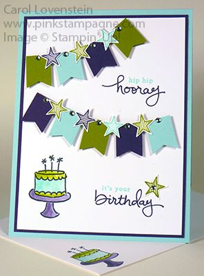 Endless Birthday Wishes June Card Class (3 of 5) Card Ideas (Thank you to Nicole Tugrul) Carol Lovenstein - Stampin' Up!