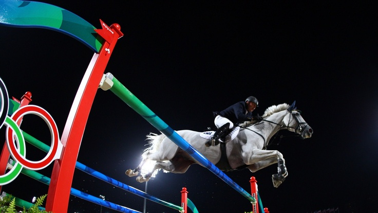 Laurie Lever of Australia and Drossel Dan jump a fence during the Show Jumping first round qualifiers held at the Hong Kong Olympic Equestrian Venue in Sha Tin during day 7 of the Beijing 2008 Olympic Games on 15 August 2008 in Hong Kong, China.