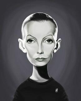 Greta Garbo by robart at zippi.co.uk art | decor | wall art | inspiration | caricature | home decor | idea | humor | gifts