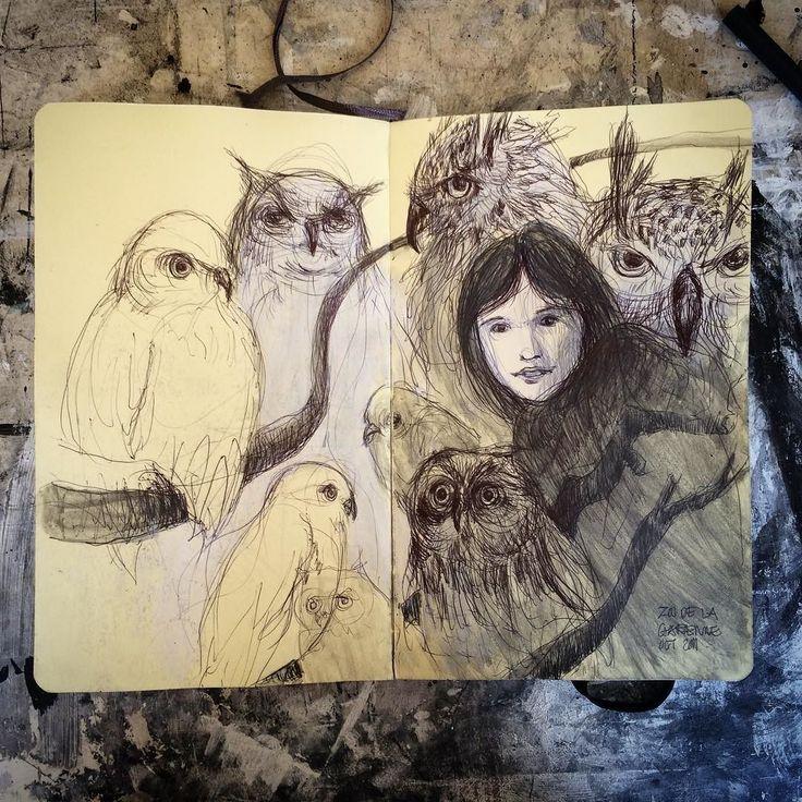 Willam at the Garen #zoo with #owl in #switzerland (2011- graphic journal)      #drawing #draw #sketch #ballpointpen #graphite #acrylics #watercolor #mixedmedia #sketchbook #moleskine #moleskineart #carandache #portrait #portraiture #anatomyart #lifedrawing #art #mixmedia #artsy #kunst #artwork #fineart  #アート #素描 #艺术 #drawanyway