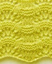Wavy Knit Stitch Pattern http://knitchart.com/category/wavy-knit-patterns.html