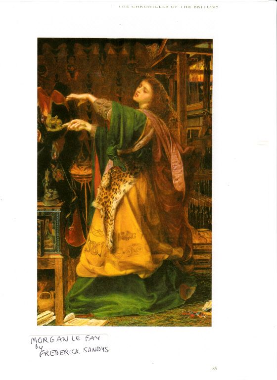 Love this painting of Morgan le Fay practising magic - you can just see what a wild, passionate woman she is!