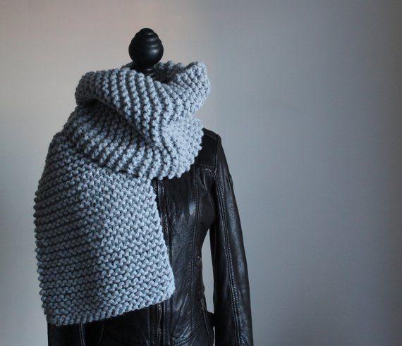 nuovo elenco metà fuori design unico Sciarpa in lana grossa, sciarpa a dritto, lana grossa, maglia ...
