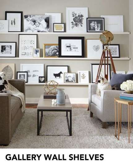 20+ Ideas living room shelves above couch built in…