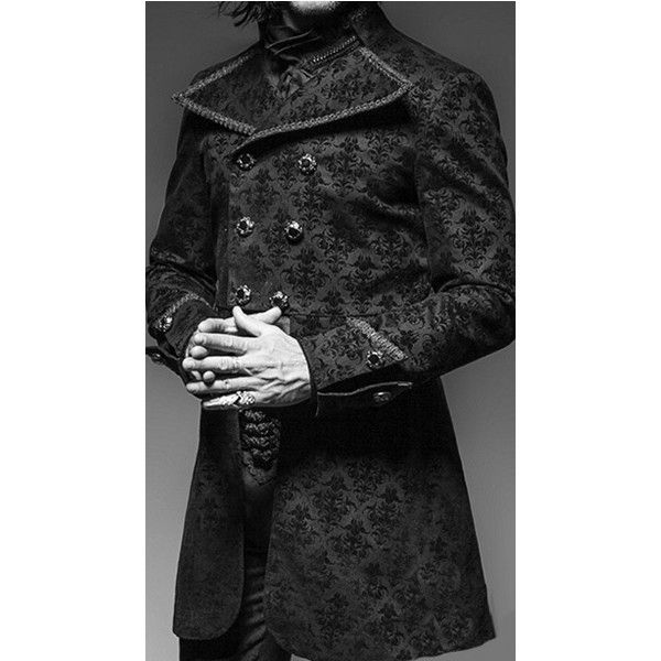 Ipso Facto Men's Gothic, Punk, Steampunk Coats, Jackets, Hoodies,... ❤ liked on Polyvore featuring men's fashion, men's clothing, men's outerwear, mens apparel, gothic mens clothing, goth mens clothing, mens outerwear and steampunk mens clothing