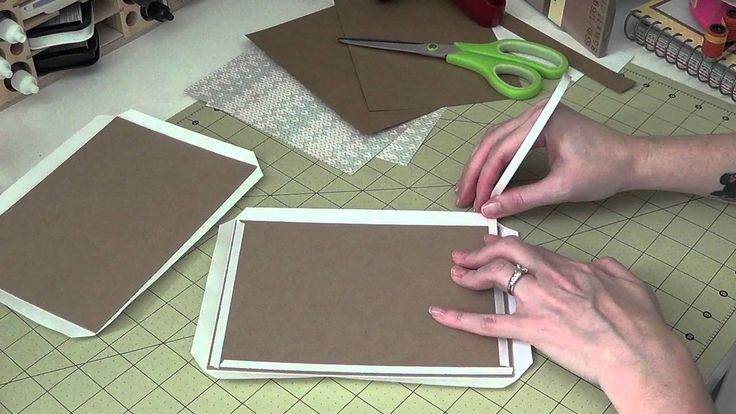Part 1 of the 5x7 envelope mini album. In this video I show how to cut, wrap and mat the covers :) Enjoy! Link for chipboard ~ http://www.ebay.com/itm/Grafix...