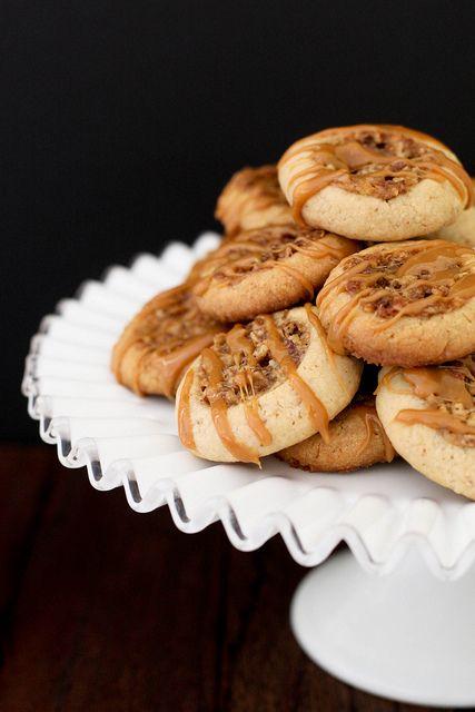 pecan pie thumbprint cookies by annieseats, via Flickr