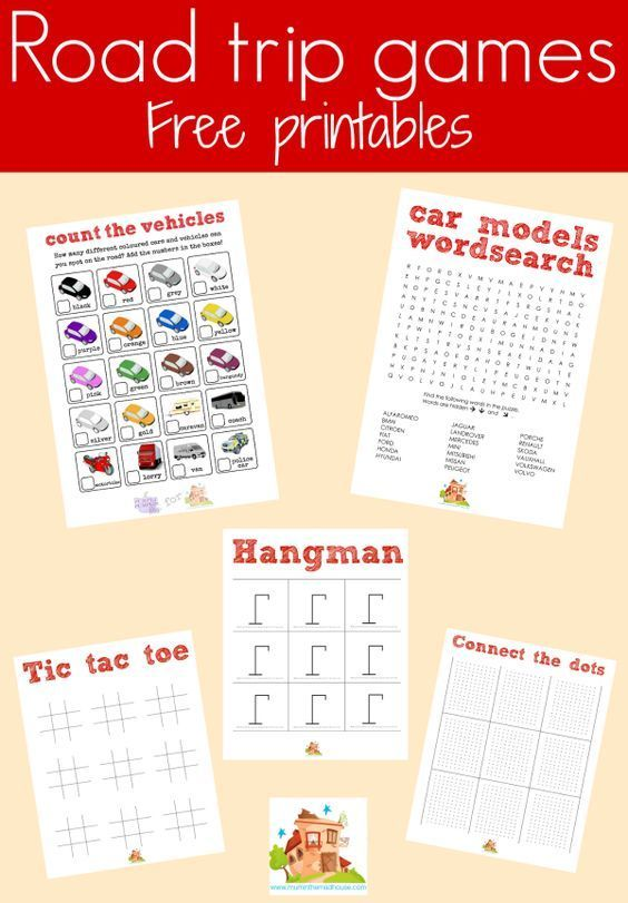Make sure your children are occupied on car journeys with these free car journey games printables.