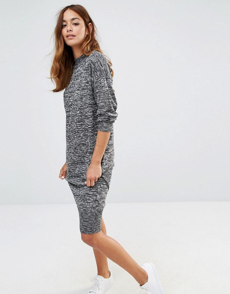 Noisy May Long Knit Dress With High Neck | ASOS