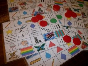 Art Room Bingo, Grades K-2