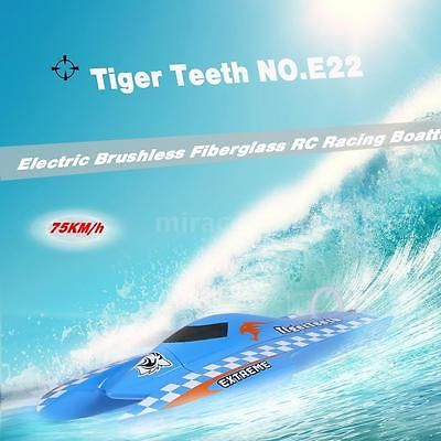 ﹩281.69. Cool NO.E22 Tiger Teeth 75km/h High Speed Electric Brushless RC Racing Boat N8A7    Hull type - Catamaran, ISBN - Does not apply, Hull material - Fiberglass, Power - Brushless B3653 2550KV motor, Fuel Type - Electric, UPC - 714424394569