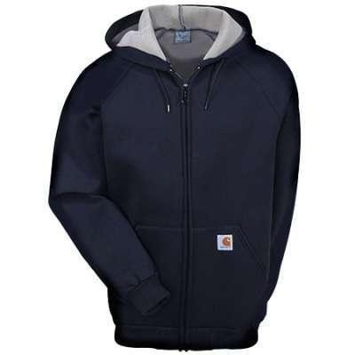 Carhartt Sweatshirt Men's 100465 Car Lux Front Zip Hooded Sweatshirt | eBay