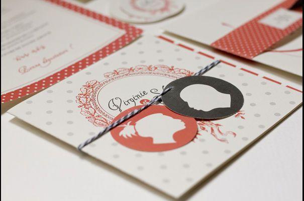Faire-part de mariage original Silhouettes - Nabe Fabric - Nos 10 créateurs de faire-part de mariage préférés - L'EXPRESS