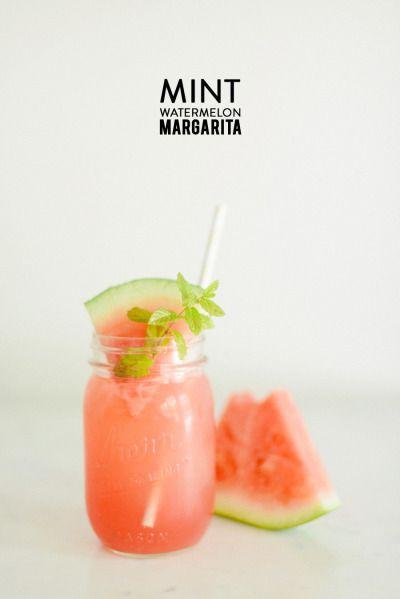 Cocktail recipe | Mint watermelon margarita