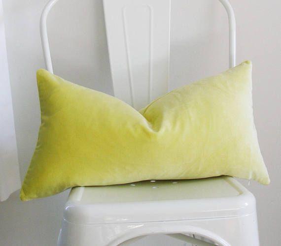 Citrine Velvet Pillow Cover 11x21 Inch Citron Lumbar Decorative Pillow Cover The Fabric Velvet Pillow Covers Decorative Lumbar Pillows Velvet Pillows