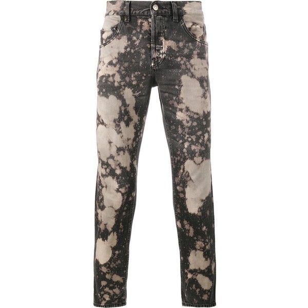 Gucci acid washed slim-fit jeans ($860) ❤ liked on Polyvore featuring men's fashion, men's clothing, men's jeans, black, mens leather jeans, mens acid wash jeans, mens cropped jeans, gucci mens jeans and mens patched jeans