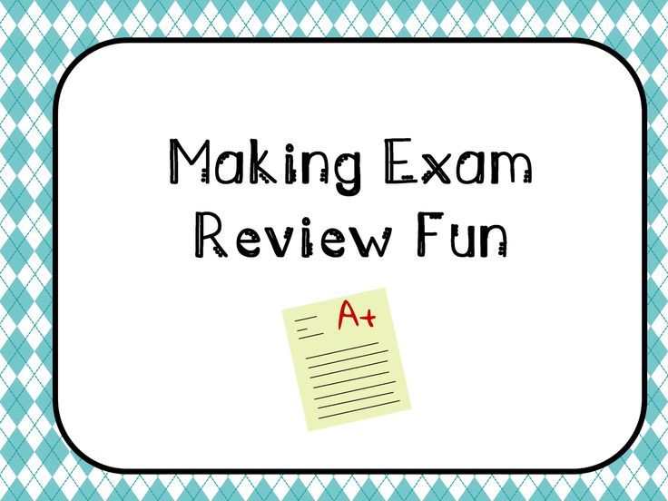Making Exam Review Fun - a blog post about how to make exam review fun and engaging for your students.