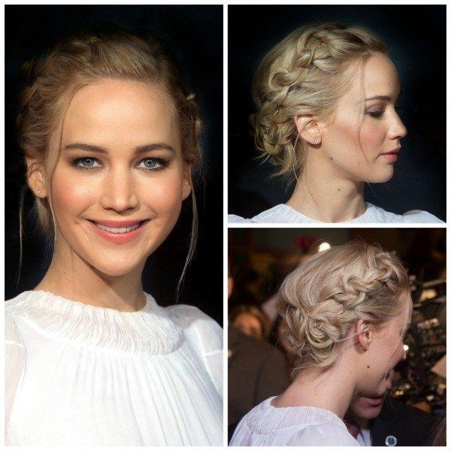Copia el recogido boho con trenzas de Jennifer Lawrence   Galería de fotos   Mujerhoy.com