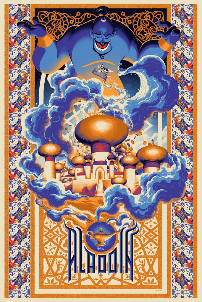 Satisfy Your Inner Child Adult With Gorgeous Disney Posters for Grown-Ups | Aladdin by Matt Taylor | From Wired.com