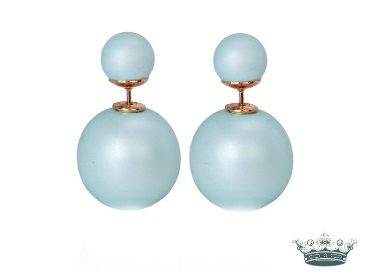 Doppel perlen ohrringe matt