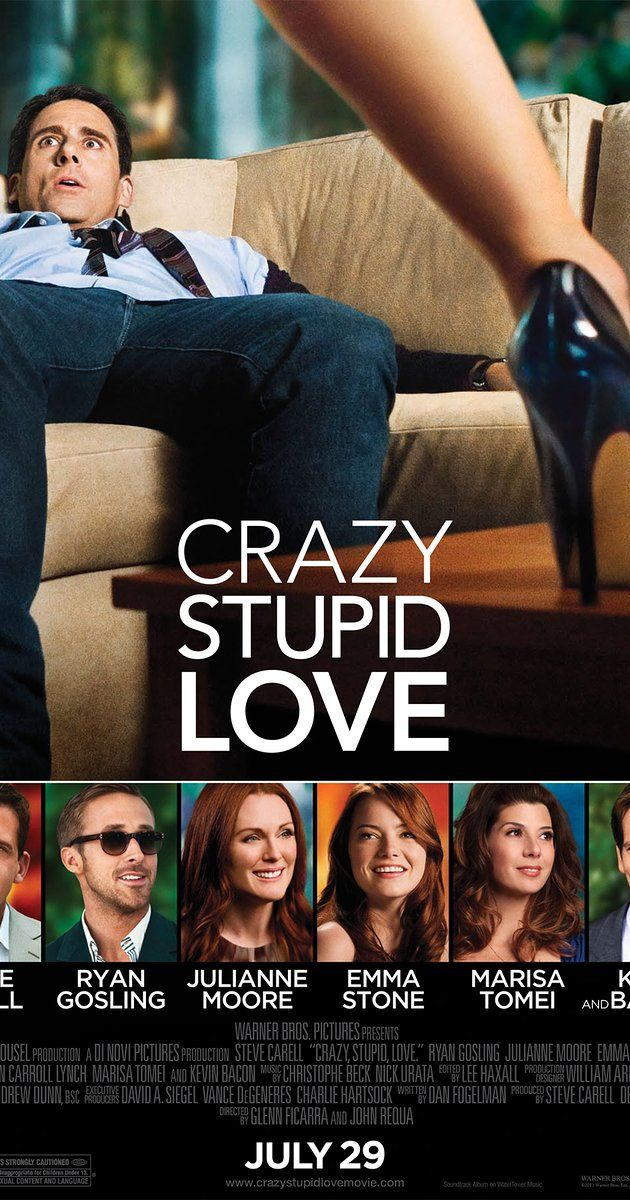 Directed by Glenn Ficarra, John Requa.  With Steve Carell, Ryan Gosling, Julianne Moore, Emma Stone. A middle-aged husband's life changes dramatically when his wife asks him for a divorce. He seeks to rediscover his manhood with the help of a newfound friend, Jacob, learning to pick up girls at bars.
