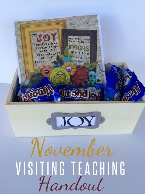 Marci Coombs: November Visiting Teaching Handout.