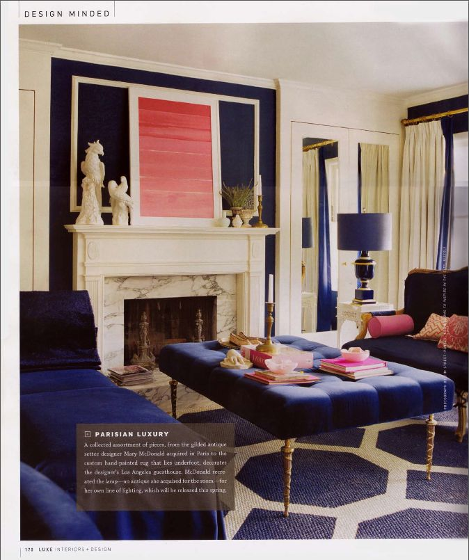 Oooooh Furniture And Color Scheme! Parisian Luxury. Navy + Coral Pink +  Gold | · Blue Living RoomsBlue ... Part 30