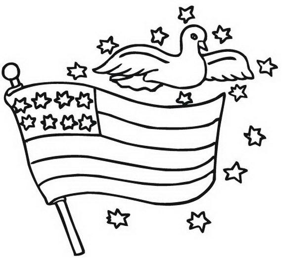 Ausgezeichnet Malvorlagen Der Amerikanischen Flagge Ideen ...